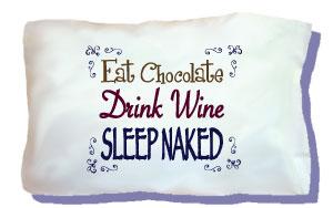 Wine & Chocolate Travel Pillow